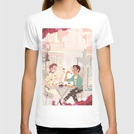 Coffee Date w/ roses T-shirt