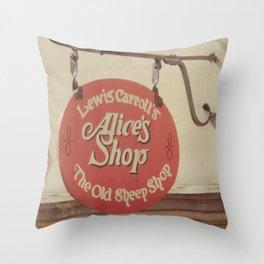 Alice's Shop Throw Pillow
