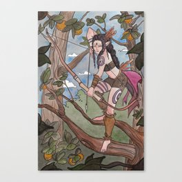 In The Treetops Canvas Print