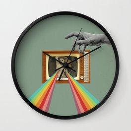 Tits on TV Wall Clock