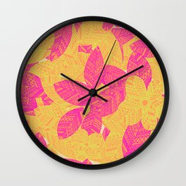 Geo Floral Wall Clock