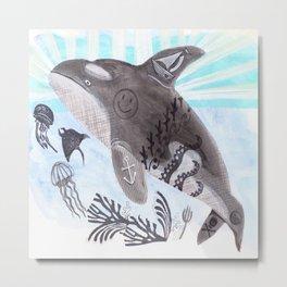 Killer Whale Ishmael Metal Print