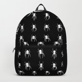 white spiders Backpack