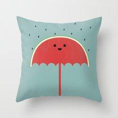 Watermelon Umbrella Throw Pillow