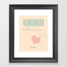 Hey Jude Framed Art Print