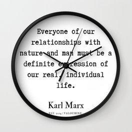 69 | Karl Marx Quotes | 190817 Wall Clock