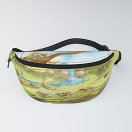 Flying On Polly Over an Enchanted Land Fanny Pack