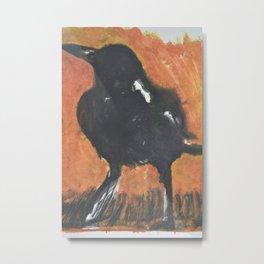 Magpie at Dawn Metal Print