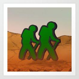 Google's Space | Travellers Art Print