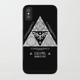 Legend of Zelda Kingdom of Hyrule Crest Letterpress Vector Art iPhone Case