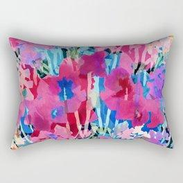 Red Poppy Evening Rectangular Pillow