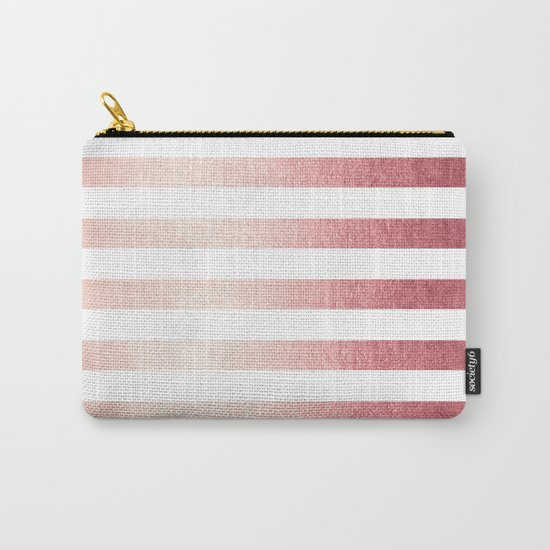 Simply Striped Rose Gold Twilight Carry-All Pouch