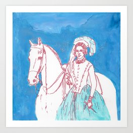 Ade and Bucephalus Art Print