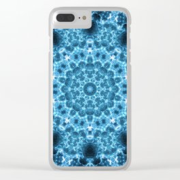 Cosmic Light Storm Mandala Clear iPhone Case
