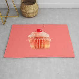 Cupcake Love | Pink with a Cherry on Top Rug
