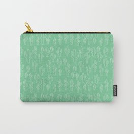 Mint Green Cactus Pattern Carry-All Pouch