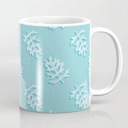 Dusty Miller Foliage Pattern Coffee Mug