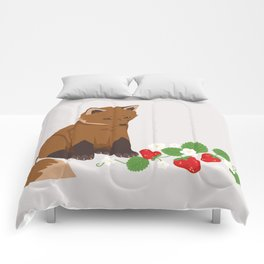 Strawberries for Fox Comforters