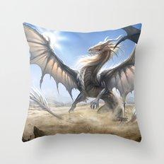 White Dragon Throw Pillow