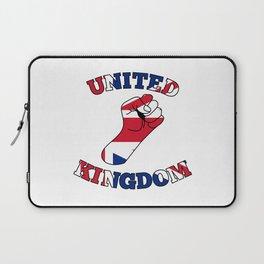 United Kingdom Fist Laptop Sleeve