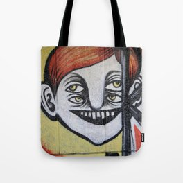 One face four eyes. Tote Bag