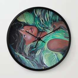 On Living Green Wall Clock