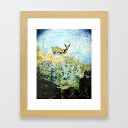 Token Deer Painting Framed Art Print
