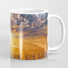 A Stained Glass Fractal Sunset Over Tianjin, China Coffee Mug