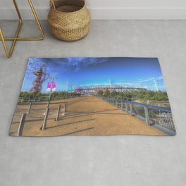 West Ham Olympic Stadium And The Arcelormittal Orbit  Rug