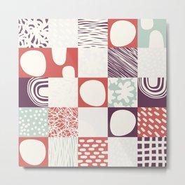 Abstract Naive Composition 003 Metal Print