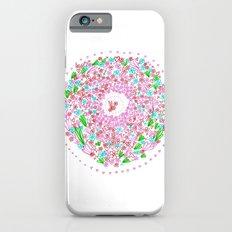Floral circle iPhone 6s Slim Case