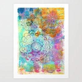 find your inner power flower mandala Art Print