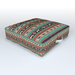 Boho dogs   Ceskoslovensky vlcak sunset Outdoor Floor Cushion