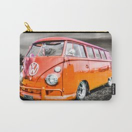 Orange VW campervan Carry-All Pouch
