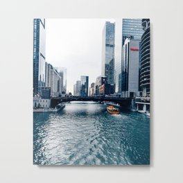 West Chicago River Metal Print