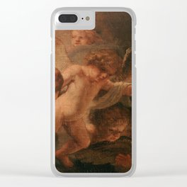 Holy Family with Angels Clear iPhone Case