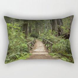 Walk Through Prairie Creek Redwoods State Park Rectangular Pillow