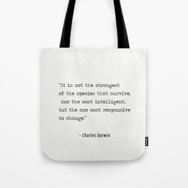 Charles Darwin quote Tote Bag