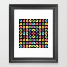 Colorful Floral Pattern V Framed Art Print