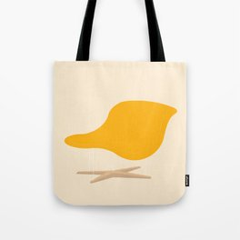 Yellow La Chaise Chair by Charles & Ray Eames Tote Bag