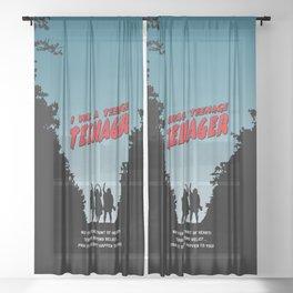 Teenage Terror Sheer Curtain