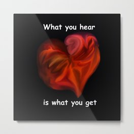 What you hear 2 - Analog Zine Metal Print