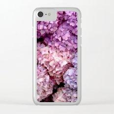 Spring Hydrangeas Clear iPhone Case