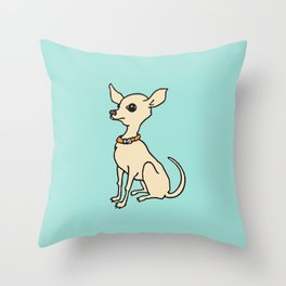 cute funky chihuahua Throw Pillow