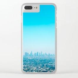 Blue LA Clear iPhone Case