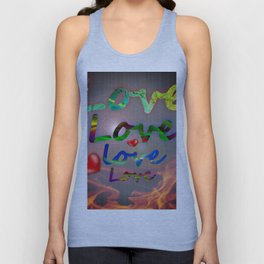 Burning love Unisex Tank Top