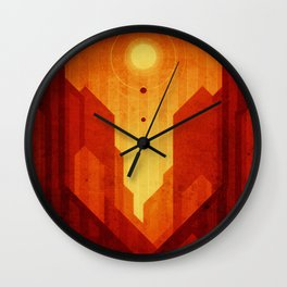 Mars - Valles Marineris Wall Clock