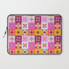 Maroccan tiles pattern with pink no4 Laptop Sleeve