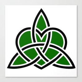 Celtic Valknut Trinity Knot With Interwoven Heart Canvas Print