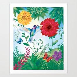 Wanga Nègès - Hummingbird Art Print